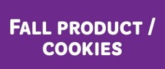 Fall Product/Cookies
